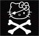 Hello Kitty Skullhead Cross Pirate Decal Sticker h6