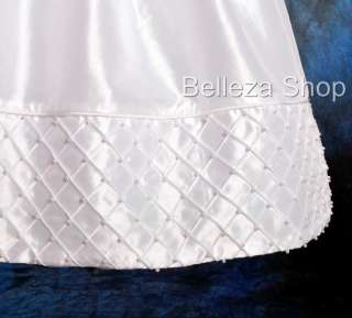 White Baby Girls Christening Gown Dress SZ 0 3mo W53