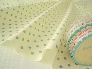 FQ   CREAM / DUSTY BLUE   MOD POLKA DOT 100% COTTON FABRIC patchwork