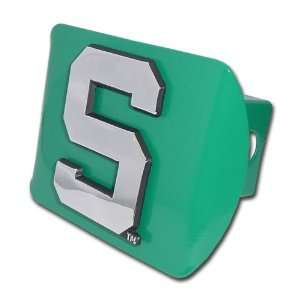 Michigan State University Spartans Green with Chrome Block S Emblem