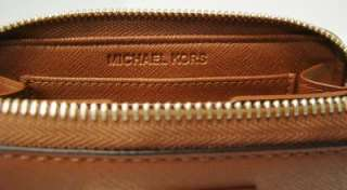 MICHAEL KORS BROWN ELECTRONIC IPHONE CASE ZIP WRISTLET WALLET ~COLOR