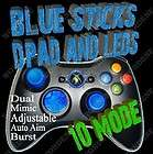 WIRED BLACK MW3 12 Mode RAPID FIRE Modded Xbox 360 Controller OPS Blue