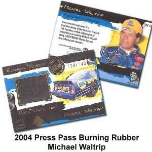 Press Pass Burning Rubber 04 Michael Waltrip Trading Card