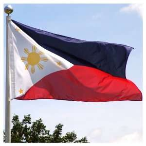 Philippines flag 3ft x 5ft Superknit Polyester: Patio