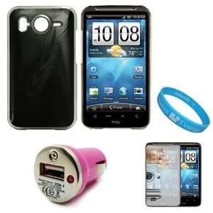 Black Metallic Cosmo Back Snap On Case for HTC Inspire 4G / HTC Desire