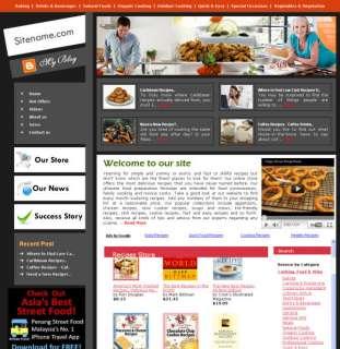 Established Wine Cooking Food Recipes Website for sale