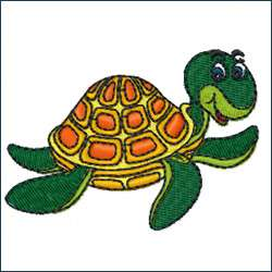 Sea Turtle Embroidery Design