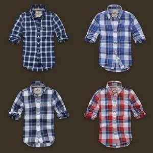 Hollister Mens Hobson Plaid Shirt Navy/Blue/White Multi Styles NWT