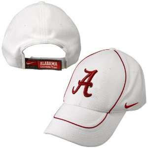 Nike Alabama Crimson Tide White Dri Fit Coaches Hat