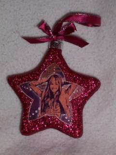 Hannah Montana Glitter Sparkle Ribbon RED POP STAR Miley Cirus