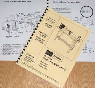 CRAFTSMAN 113.228000 113.228160 Wood Lathe Owners Parts Manual