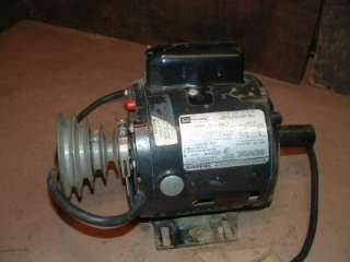 Craftsman 1/2hp elec motor pulled off rockwell wood lathe