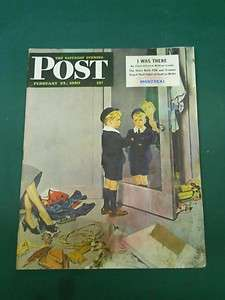 SATURDAY EVENING POST MAGAZINE FEBRUARY 25, 1950 ~ MONTREAL FDR AD