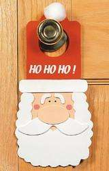 Santa Claus Christmas Craft Kit Foam Door Hanger Gift