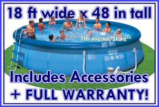 18x 48 Intex Easy Set Above Ground Swimming Pool+Pump