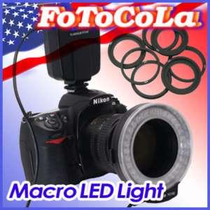 Macro ring LED light flash for Nikon D70 D90 D700 D5000