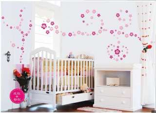 108 Flowers Removable Wall Vinyl Decal Art DIY Home Decor Wall