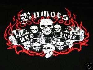RUMORS ARE TRUE SKULLS T SHIRT BLACK SIZE SMALL NEW