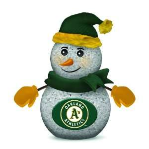 Pack of 2 MLB Oakland Athletics LED Lighted Christmas Snowman Figures
