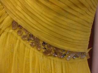new $398 BCBG MAX AZRIA DEBORA ONE SHOULDER EVENING GOWN DRESS jeweled