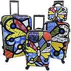 Romero Britto Butterfly 4 piece Luggage Heys Set Artist Carry on