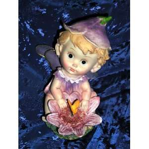 BABY FACE RESIN FLOWER PIXIE GARDEN FAIRY With Colorful