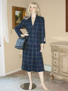 PENDLETON Wool TARTAN Plaid JACKET/SKIRT SUIT 6P/8P NEW