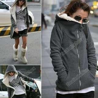 Fashion Womens Long Sleeve Zip Up Tops Hoodie Coat Jacket Outerwear