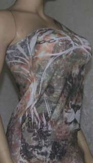 Sexy tattoo print one shoulder top sublimation Tunic