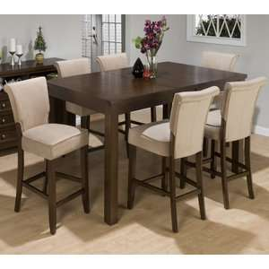 Jofran Brigham 7 Piece Butterfly Chilton Counter Height Table Set