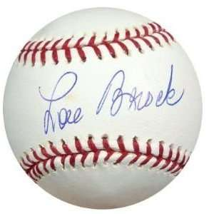 Tristar Productions I0003578 Lou Brock Autographed MLB Baseball PSA