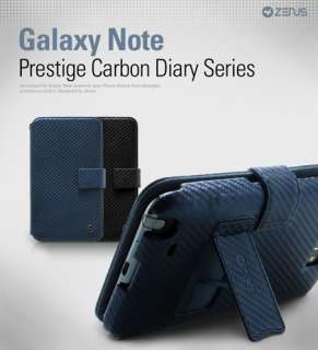 Zenus Prestige Carbon Leather Diary Series Samsung Galaxy Note Case