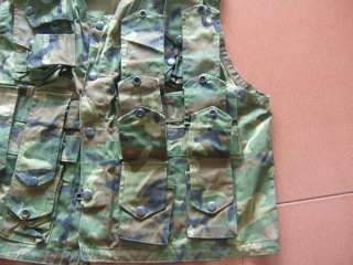 Vietnam War Special Force Rifle Man ERDL Camouflage Vest Locally Made
