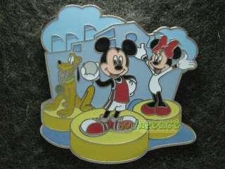 Disney Pin HKDL Olympic Game Mickey Minnie Pluto Winner