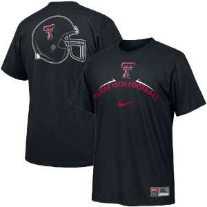 Nike Texas Tech Red Raiders Black Practice T shirt  Sports