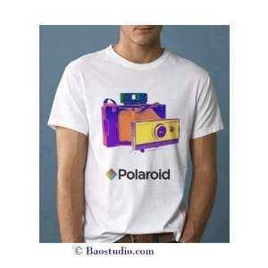 Polaroid Land Camera   Pop Art Graphic T shirt (Mens