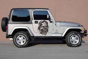 SKULL FORD DODGE JEEP HONDA CAR VINYL SIDE GRAPHICS S97