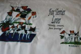 Fox Terrier Dogs Dog Lover T Tee Cotton Shirt Clothes
