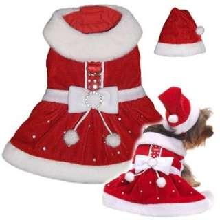 Dog Clothes Mrs. Santa Paws Dress Christmas XXS   XL