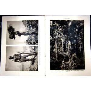 Cameroon Forest Douala Kirdis Tribe French Print 1937
