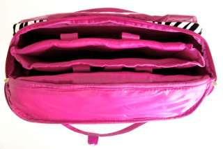 16 Computer/Laptop Briefcase Rolling Wheel Travel Bag Luggage Pink