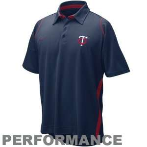 Minnesota Twins Navy Blue Dri FIT Performance Polo