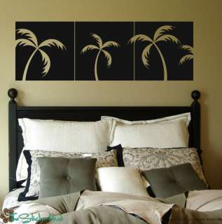 Palm Tree Panels Vinyl Wall Decor Decals Stickers 1186