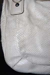 COACH KRISTIN EMBOSSED PYTHON Pearl large ROUND Sage SATCHEL 16833 $