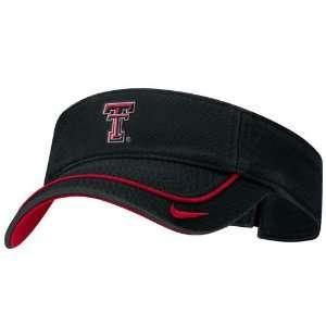 Nike Texas Tech Red Raiders Black Swoosh Visor Sports
