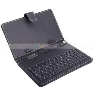 Inch Tablet Ebooks eReader USB Keyboard Leather Case