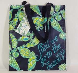 FALLIN IN LOVE  MARKET BAG Sea Shells Green Recyclable Eco NEW