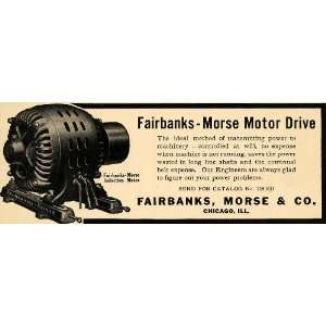 1908 Ad Fairbanks Morse Motor Drive Induction Power