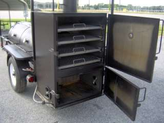 RIB BOX BBQ PIT SMOKER trailer Concession gas fryer barrel Barbecue