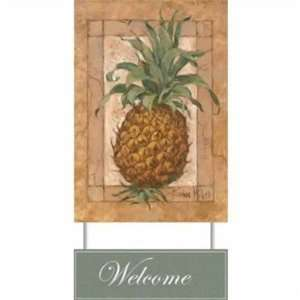 WeatherPrint 90310811 Pineapple Pizzazz Welcome Sign   Barbara Mock